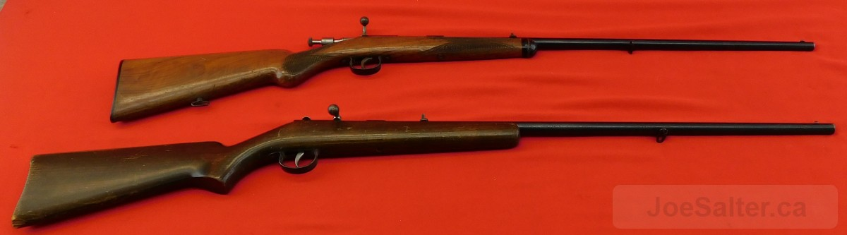 Lot of 2 Anschutz Single Shot Bolt Action Shotguns 9mm Glatt